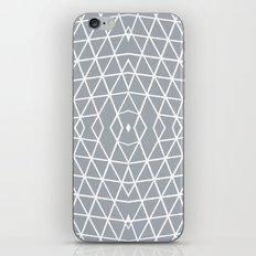 Geo Outline Grey iPhone & iPod Skin