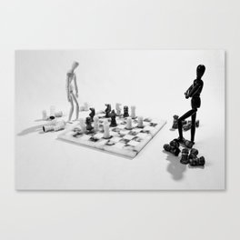 Black wins? Canvas Print