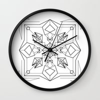 gem Wall Clocks featuring Gem by enkorporated