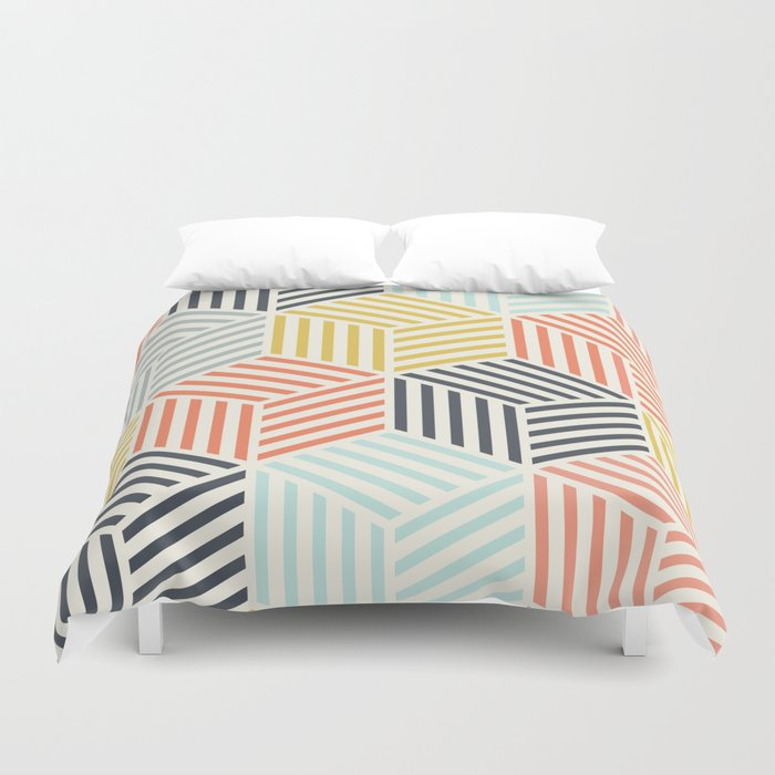 Colorful Geometric Pattern Duvet Cover By Patternmaker Society6