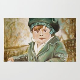 Painting of David as a Child Rug