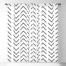 Mudcloth Black and White Blackout Curtain