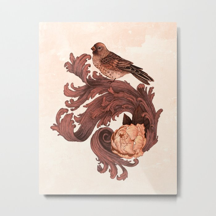 Rosy Bird Metal Print