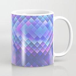 Indigo Violet Bright Squares Pattern Coffee Mug