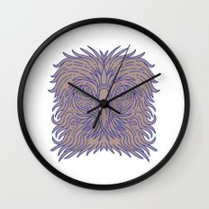 Great Philippine Eagle Head Mono Line Wall Clock