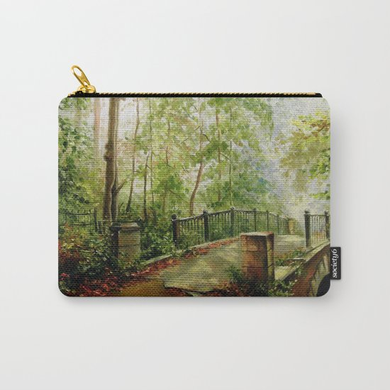 Old bridge in the forest Carry-All Pouch