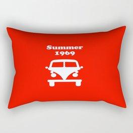 Summer 1969 - red Rectangular Pillow