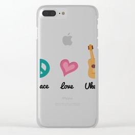 Ukulele Uke Music Gift Clear iPhone Case