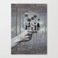La file  Canvas Print