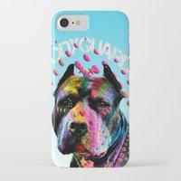 pitbull iPhone & iPod Cases featuring pitbull  by mark ashkenazi