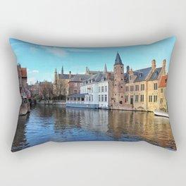 Belgium, City Canal 2 Rectangular Pillow