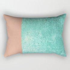 NEW EMOTIONS - ROSE & TEAL Rectangular Pillow