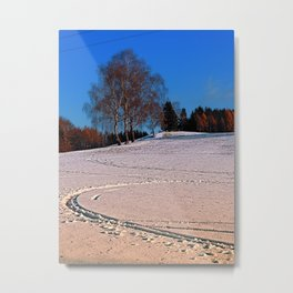 Hiking through winter wonderland III | landscape photography Metal Print