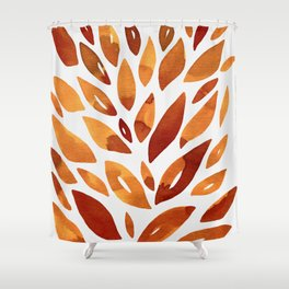 Watercolor floral petals - autumn Shower Curtain