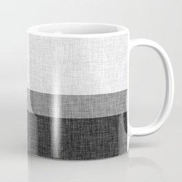 Black and White Graphic Burlap Pattern Stripe Coffee Mug