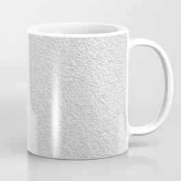White grey stucco texture Coffee Mug