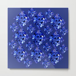 FACETED BLUE ON BLUE SAPPHIRE GEMSTONES Metal Print
