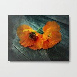 Twin Flowers Metal Print