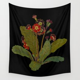 Primula Polyanthus Elatior (Hexandria Monogynia) by Mary Delany Paper Collage Floral Flower Botanical Paper Mosaic Vintage Scientific Plant Anatomy  Wall Tapestry