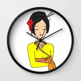 Korean Maiden Wall Clock