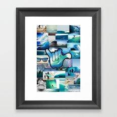 Carlyfornia Surfer Framed Art Print