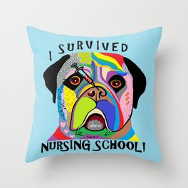 I Survived Nursing School Throw Pillow