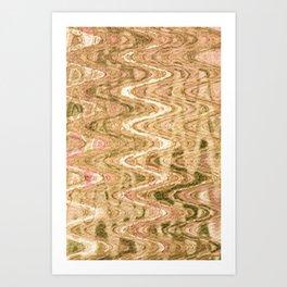 Waves Brass Art Print