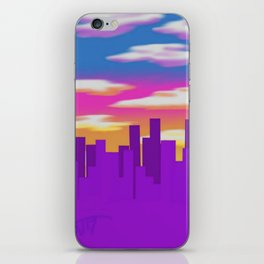 Purple City iPhone Skin