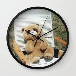 Adam in a lawn chair Wall Clock