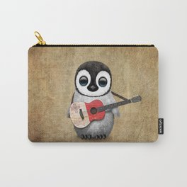 Baby Penguin Playing Maltese Flag Acoustic Guitar Carry-All Pouch