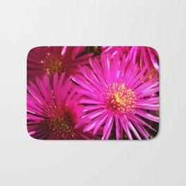 Ice Plant Pink Cactus Flowers Bath Mat