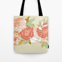 party Tote Bags featuring garden party by Teagan White