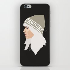Feminist (Silver) iPhone & iPod Skin