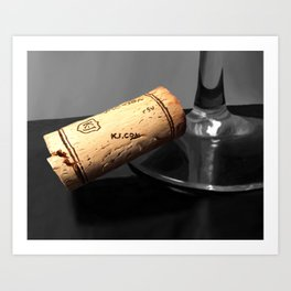 Wine Cork Art Print