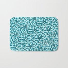 Turquoise Vintage Flowers Bath Mat