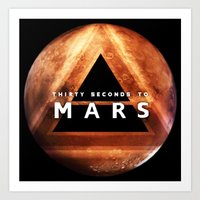 30 seconds to mars Art Prints featuring 30 Seconds to Mars by AshThePixster