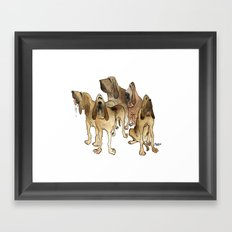 Hounds Framed Art Print