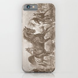 HORSES ON A PASTURE  iPhone Case