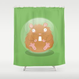 Hamsterball Shower Curtain