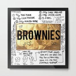 brownie recipe Metal Print