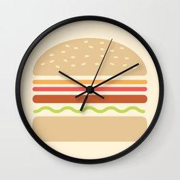 #62 Hamburger Wall Clock