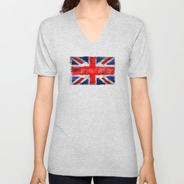 Union Jack - UK Unisex V-Neck