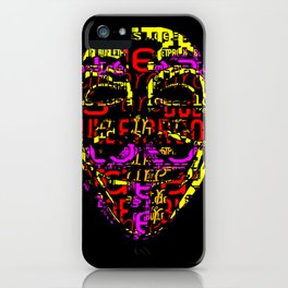 Guy fawkes has colours now iPhone Case