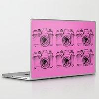 cameras Laptop & iPad Skins featuring Cameras by Le Arcara