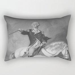 Washington Receiving A Salute At Trenton Rectangular Pillow