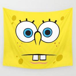Spongebob Surprised Face Wall Tapestry
