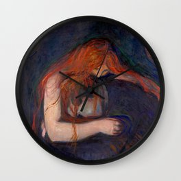 Love and Pain by Edvard Munch Wall Clock