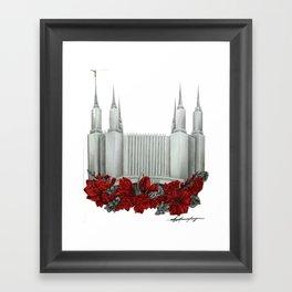 Washington DC LDS Temple Framed Art Print