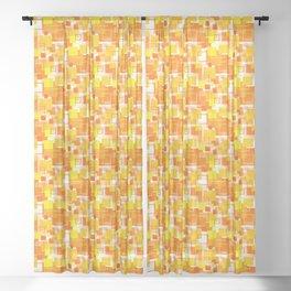 Mid-Century Modern - Orange Sheer Curtain