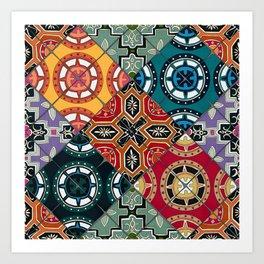DESEO BOLD spanish tiles Art Print